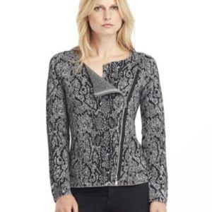 KENNETH COLE NY Metallic Zip Sweater